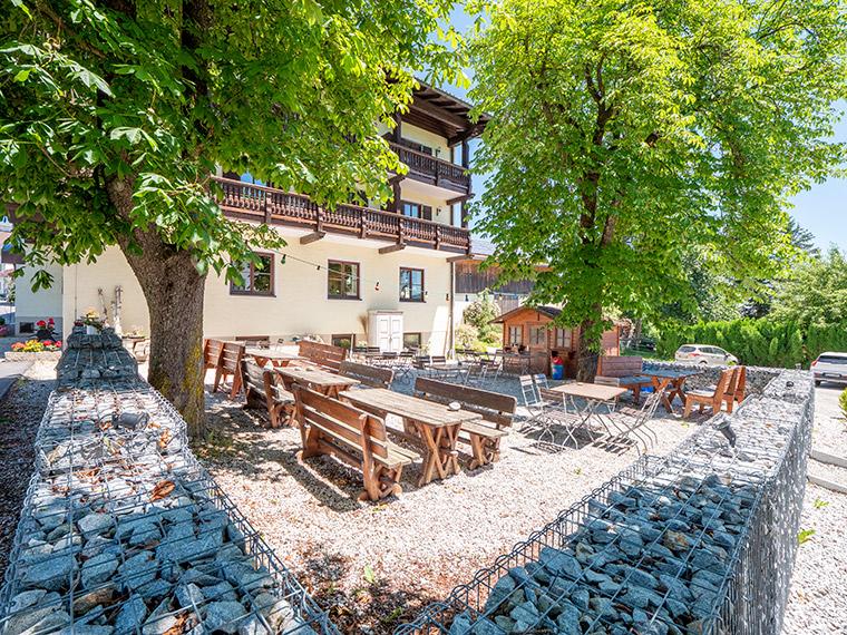 Biergarten im Gasthof zur alten Post